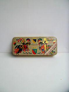 European tin, collectable tin, old tin, decorative tin, collectable tin, Italian decorative tin, Alemagna tin