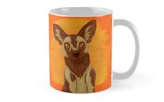African Wild Dog Coffee Mug by thekohakudragon #africanwilddog #painteddog #africa #endangered #animals