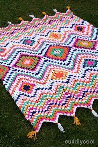 Crochet Quilt Pattern, Scrap Yarn Crochet, Crochet Ripple, Manta Crochet, Granny Square Crochet Pattern, Crochet Pillow, Crochet Blanket Patterns, Baby Blanket Crochet, Crochet Yarn