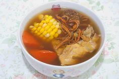 食譜+蟲草花茶樹菇湯++Cordyceps+Flower+Tea+Plant+Mushroom+Soup+Recipe