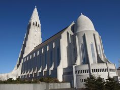 The Hallgrímskirkja (Icelandic: [ˈhatlkrimsˌcʰɪrca], church of Hallgrímur) is a Lutheran (Church of Iceland) parish church in Reykjavík, Iceland. At 74.5 metres, it's the largest church in Iceland and the sixth tallest architectural structure in Iceland after Longwave radio mast Hellissandur, the radio masts of US Navy at Grindavík, Eiðar longwave transmitter and Smáratorg tower. The church is named after the Icelandic poet and clergyman Hallgrímur Pétursson (1614 to 1674).