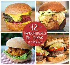 Quem não ama um belo hambúrguer? Veja 12 opções de receita para fazer um em casa
