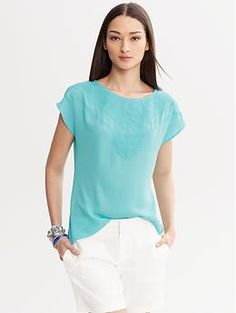 Embroidered Top | Banana Republic- Me