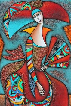 Lady With Fan ~ by Wlad Safronow, Ukranian artist, born 1965 in Kharkov, Ukraine.