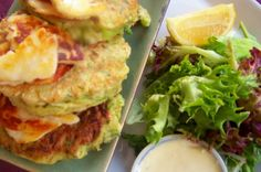 Day 4 - Zucchini Fritters with Haloumi