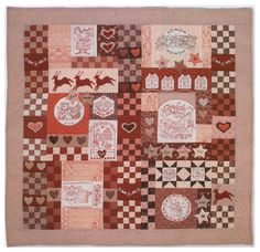 red brolly free patterns   ... Redwork Christmas Quilt, free patterns by Bronwyn Hayes at Red Brolly