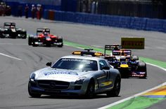 F1 European GP - The Safety Car leads the field.  Formula One World Championship, Rd8, European Grand Prix, Race Day, Valencia, Spain, Sunday, 24 June 2012