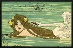 Leda+and+the+Swan+-+Raphael+Kirchner