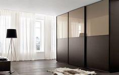Glass Wardrobe, Wardrobe Doors, Modern Luxury Bedroom, Luxurious Bedrooms, Modern Closet Doors, Sliding Door Wardrobe Designs, Pooja Room Design, Master Room, Pooja Rooms