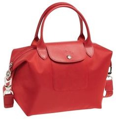 fe5e186c8b7d Longchamp Medium Le Pliage Neo Nylon Red Tote Bag. Get one of the hottest  styles. Tradesy
