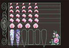 One stroke roses Rose Nail Art, Flower Nail Art, 3d Nail Art, 3d Nails, Nail Arts, Acrylic Nails, Uñas One Stroke, One Stroke Nails, One Stroke Painting