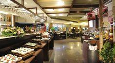 Beautiful buffet breakfast area. Booking.com: Pacific Business Hotel , Taipéi, Taiwán
