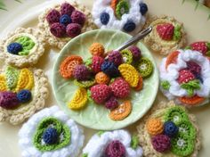 (4) Name: 'Crocheting : Fruit Desserts