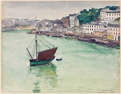 Albert Marquet, In the Harbor, 1928, Graphite and watercolor, 22,4 x 28,9 cm, The Cleveland Museum of Art