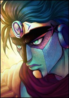 """""""I got to do another one of my glitter series of Jojo characters as a commission This time it's Star Platinum~"""" Jojos Bizarre Adventure Jotaro, Jojo's Bizarre Adventure Anime, Jojo Bizzare Adventure, Manga Anime, Fanarts Anime, Anime Art, Jojo Jojo, Star Platinum Jojo, Jojo Stardust Crusaders"""