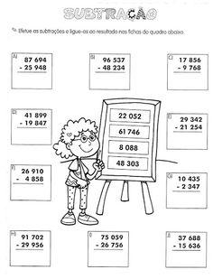 Ensinando com Carinho: Atividades de Matemática 4º ano English Activities, Math Activities, Kids Study, Basic Math, Math Class, Coreldraw, Teaching Math, Kindergarten, Classroom
