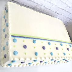 Polka dot sheet cake