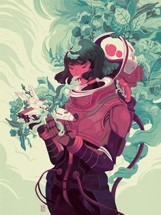 This is a truly wonderful illustration by German artist Natalie Dombois. The limited color palette is my favorite aspect of this piece. Art And Illustration, Character Illustration, Animal Illustrations, Illustrations Posters, Character Inspiration, Character Art, Daily Inspiration, Art Inspo, Amazing Art