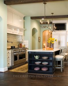 Kitchen designs by Decorating Den Interiors. Want this look? Call The Landry Team to set up your FREE consultation 817-472-0067. Visit our website TheLandryTeam.DecoratingDen.com