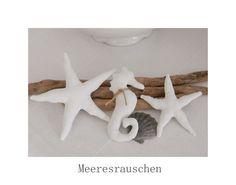 Deko-Objekte - 3 tlg. maritime Deko Seestern, Fische, Seepferd - ein Designerstück von uggla-deko bei DaWanda