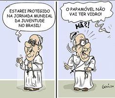 A segurança do Papa Francisco no Brasil