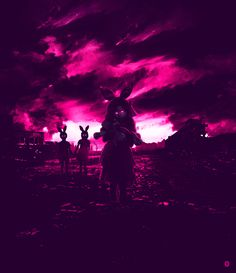 A eery tone is carried throughout the image using a magenta color that is dispersed throughout creating. Even the farthest corners are affected by the creepiness.