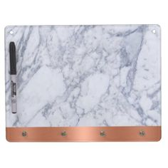 A Marble Look Dry Erase Board with Key Hooks - white gifts elegant diy gift ideas