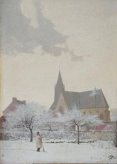 Henri Taurel, L'Eglise sous la neige, 1901