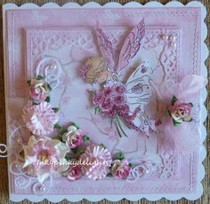 Hi folks Today I have my second card for the lovely Challenge at Lili's Little Fairies , and it is a fabulous one today, simply 'Anthing . Shaby Chic, Winter Fairy, Kids Cards, Wedding Anniversary, Handmade Cards, Making Ideas, Wedding Cards, Fairies, Birthday Cards
