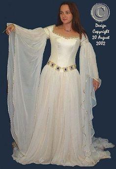 white medevil wedding dress   Found on waterparksinflorida.org