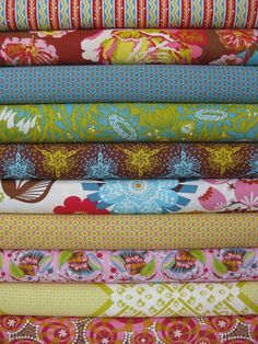 Neatly stacked fabric