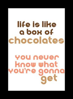 Bubba Gump Movie Quote Box of Chocolates 8x10 by Damntheframe, $15.00