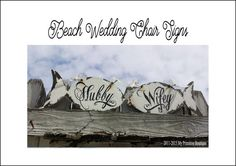 HUBBY AND WIFEY Signs | Mr and Mrs Chair Signs | Beach Wedding Decor | Nautical Signs |  Shabby Chic Wedding Signs | Rustic Wedding | Fish