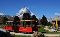 Hotel Riffelalp in Zermatt. Kid-friendly. riffelalp-train-and-garden