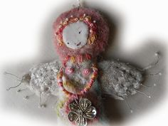 THE FABRIC OF MEDITATION - SARA LECHNER'S BLOG: Flower Angel - Blumenengel - Ange de la Fleur - Angel de la Flor