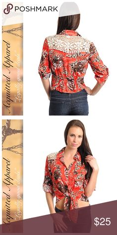Wild Side Rodeo Cowgirl Shirt Button up dress shirt. Super cute. Acquitted Apparel Tops Blouses