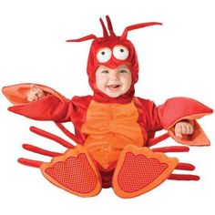 Lil' Lobster Infant Halloween Costume, Size 12-18 Months, Red/Pink