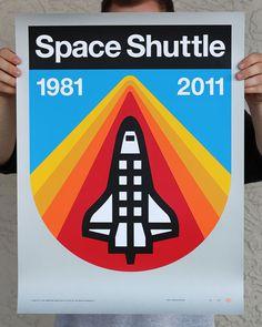 Space Shuttle poster by Aaron Draplin (found via Design Work Life)
