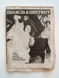 SEARCH & DESTROY #5 1978 original classic punk zine
