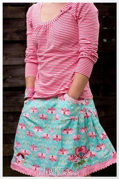 Shelly Shirt Damen nähen Ebook Papierschnittmuster Jolijou