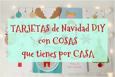 Tarjetas de Navidad DIY hechas con materiales reciclados / DIY Christmas cards made with recycled materials