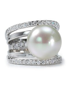 Majorica 5 Tier Pearl Ring | Bloomingdale's