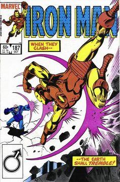 Cover for Iron Man October 1984 Marvel Iron Man Comic Books, Comic Books Art, Book Art, Dr Octopus, Iron Man Birthday, Iron Man Tony Stark, Comic Book Covers, Cover Art, Marvel Comics