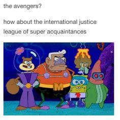 Image via We Heart It #funny #spongebob #theavengers #bobsponge #funnypost