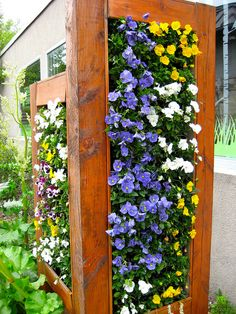 Vertical garden at The Museum of Science and Industry, Chicago. Easily replicated in your backyard vertical garden. Vertikal Garden, Vertical Garden Wall, Vertical Farming, Garden Screening, Walled Garden, Garden Structures, Garden Styles, Dream Garden, Garden Inspiration