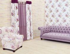 New York szatén virágos sötétítő lila - Termékek - Diego Minimalism, Curtains, Future, Retro, Floral, Modern, Home Decor, Blinds, Future Tense