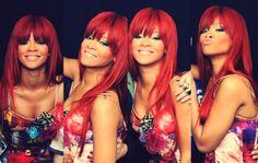 Rihanna Red hair. Luv it <3