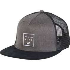 size 40 9482b cdde7 Stacked Billabong branding over your flat brim. The staple trucker hat  features a twill front