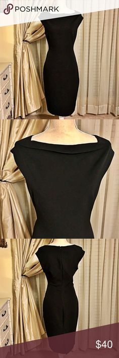 Zara LBD Black Dinner Cocktail Dress Zara LBD Black Dinner Cocktail Dress. Classic knee length black dress perfect for dinner or a night out. Only worn once and is in excellent condition. Comes from a smoke free home. Zara Dresses