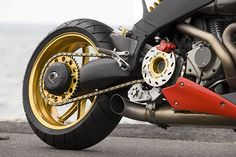 Check out the drive pulley brake on this heavily modified Buell. Motorcycle Posters, Motorcycle Quotes, Motorcycle Design, Motorcycle Outfit, Bike Design, Motorcycle Helmets, Women Motorcycle, Buell Motorcycles, Custom Motorcycles